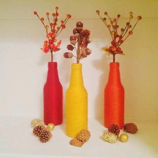 Gambar Vas Bunga Dari Botol Bekas Di 2020 Ide Kerajinan Bunga