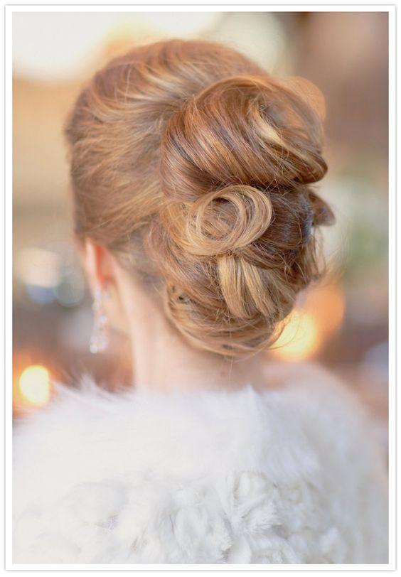classic chignon wedding hair by damali nyc stylist Nikki Avanzino for  damali nyc