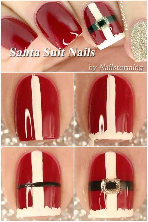 50+ Surprisingly Cute Christmas Nail Art Designs | Xmas Nail Art Ideas #nailart #naildesigns #nailartdesigns #christmas #xmas