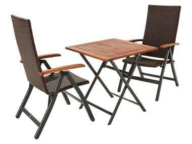 Florabest Balkonmobel Set Mit 2 Klappsesseln Und 1 Tisch Aus