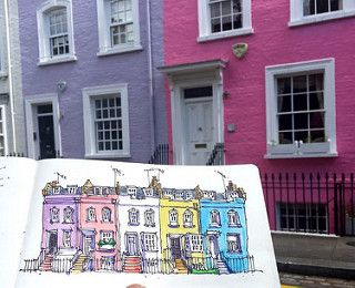 Bywater Street Kings Road London Watercolor Inspiration Sketch Book Inspiration Canvas Painting