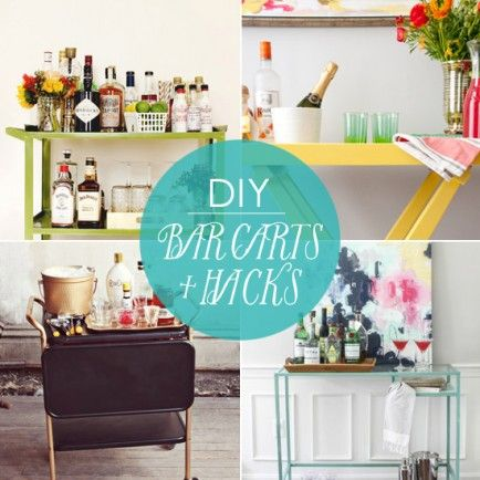 Bottoms Up! 10 DIY Bar Carts + Hacks