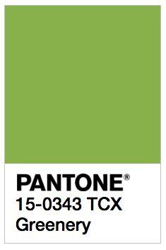 Pantone Greenery:
