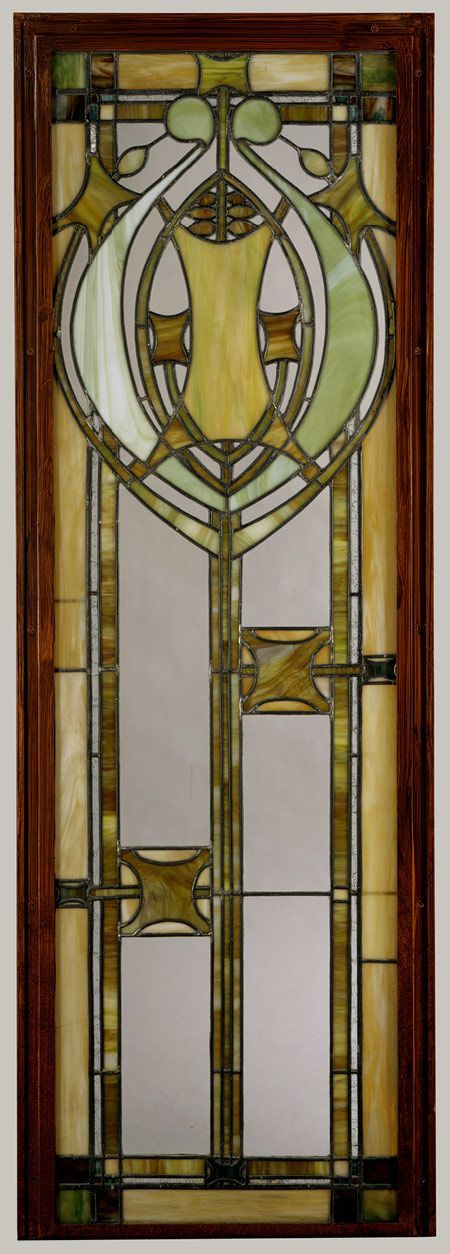 Window from J. G. Cross House, Minneapolis, Minnesota, 1911  George Grant Elmslie: