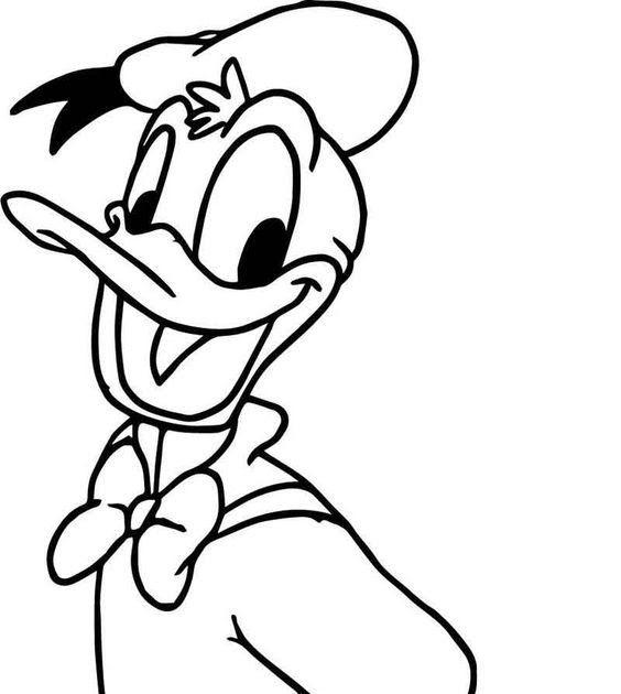 Super Donald Duck Coloring Page Dengan Gambar Buku Mewarnai