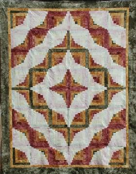 offset log cabin quilt pattern | ... , Inc: Shop | Category: Patterns | Product: Spiced Latte Pattern