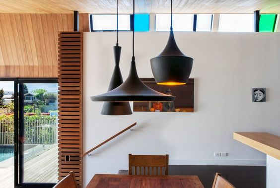Tom Dixon Beat Lights: Dining Room, Architects Winsomere, 415 Lights Dining, Amazing Interiors, Architecture Interior Design, Design Blog, Architecture Design, Crescent Dorrington