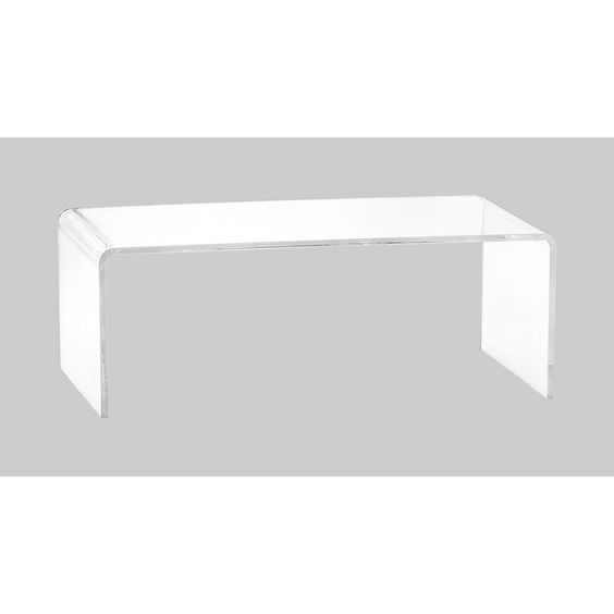 Peekaboo Clear Coffee Table In Accent Tables   CB2