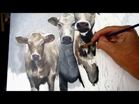 Peinture A L Huile Et Comment Fondre Les Couleurs Youtube