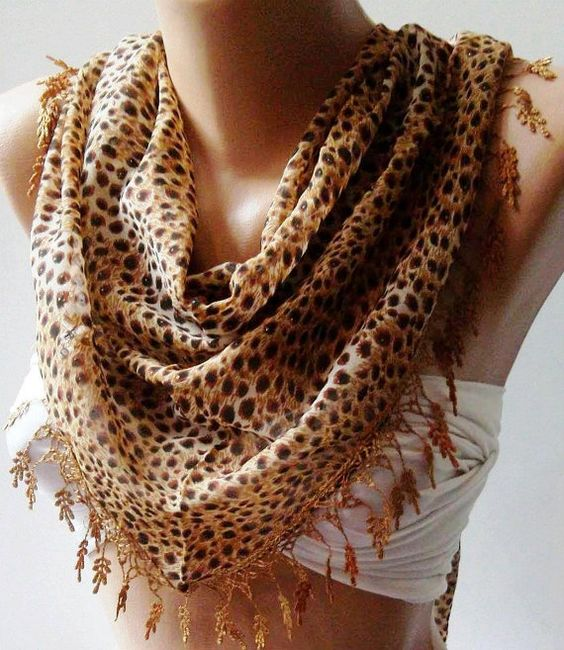 Chiffon  Scarf   Leopard by womann on Etsy, $15.90