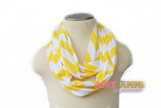 Ready to Ship Buttercup Yellow and White Chevron by AmyAnneApparel