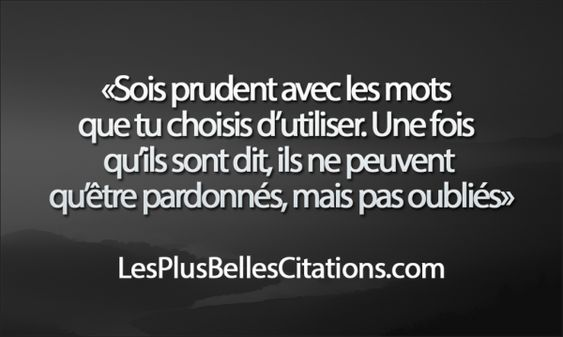 Citation : Les Mots | Les Plus Belles Citations: Collection des citations d'amour, citations de la vie et Belles Phrases