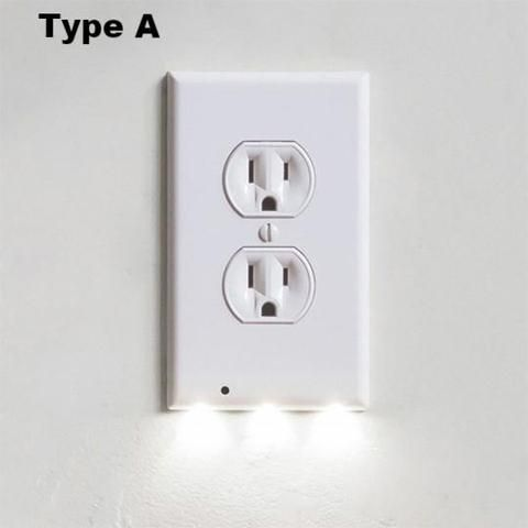 Presale Outlet Wall Plate With Led Night Lights No Batteries Or Wires Ul Fcc Certified Plates On Wall Led Night Light Wall Outlets
