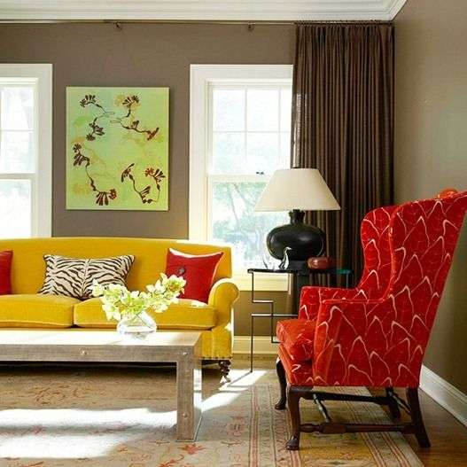 dark yellow living room dramatic walls accent chair living rooms and 14920
