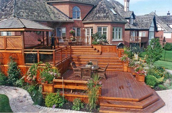 Multi Level Patio Ideas : multi level deck designs  Multi Level Wood Deck 1