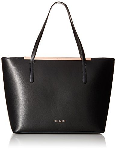 Ted Baker Noelle Crosshatch Shopper Tote Bag, Black, One Size