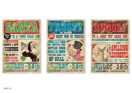Paulo Viveiros: Vintage Poster Xmas Designs