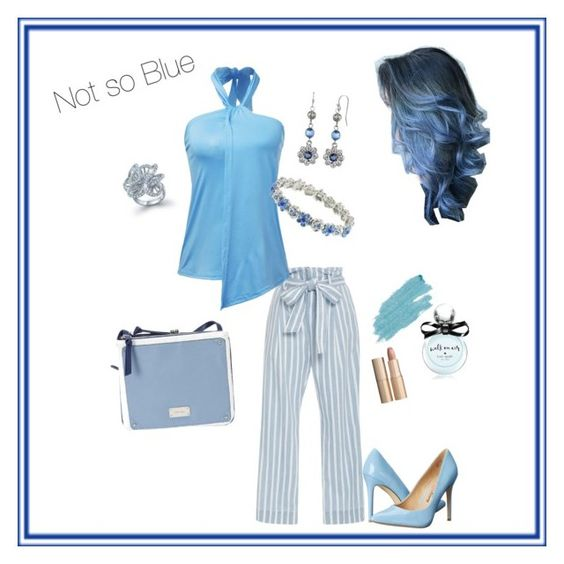 """""""Bloomingly Blue"""" by constance-dangerfield ❤ liked on Polyvore featuring Penny Loves Kenny, Frame Denim, 1928, Bling Jewelry, Nine West, Kate Spade, Jane Iredale and Charlotte Tilbury"""