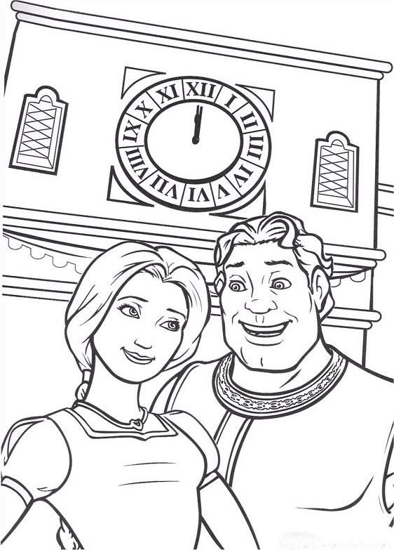 Shrek Coloring Pages And Fiona Human Form Coloring Pages Shrek