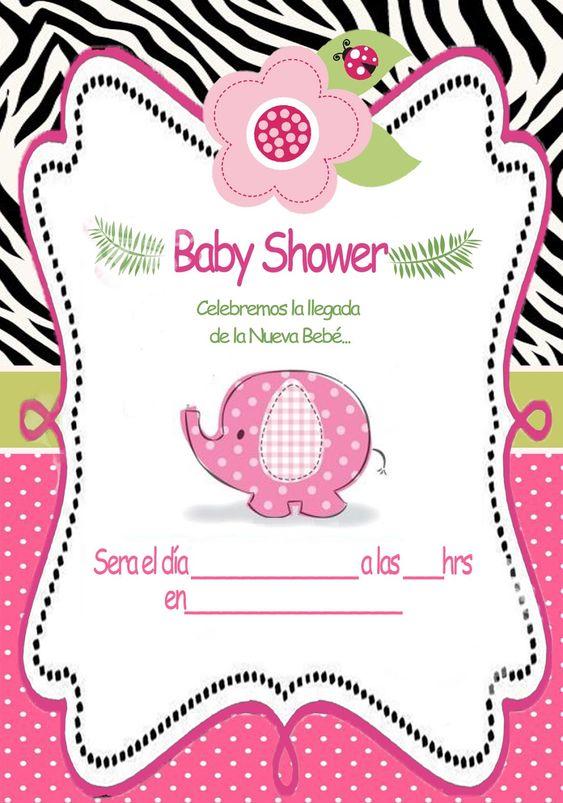 Baby Shower Invitaciones para imprimir | Bebeazul.top