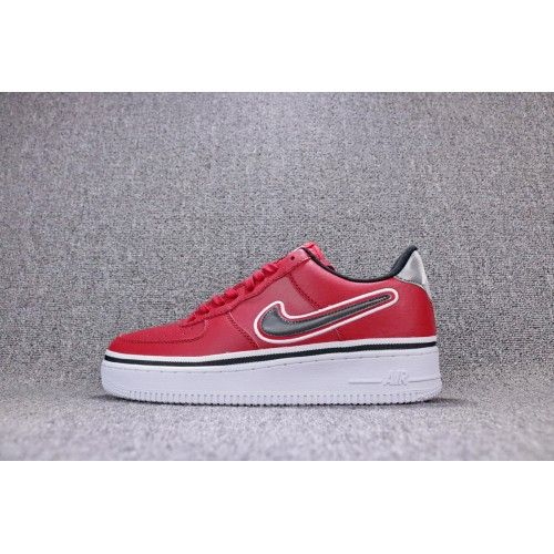 New 2018 Mens Nike Air Force Ones Af1 Low Shoes Leather Red Online