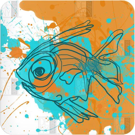 DENY Designs Home Accessories   Irena Orlov Aqua Fish Wall Art