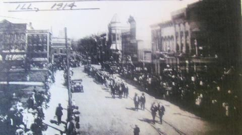 The 1914 Moose Parade in Taylorville, IL.