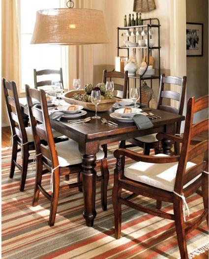 knockout knockoffs pottery barn sumner dining table inspiration room knockout knockoffs. Black Bedroom Furniture Sets. Home Design Ideas