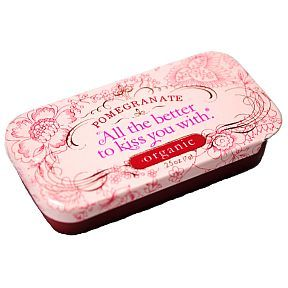 pomegranate all the better to kiss you with organic lip balm, $4