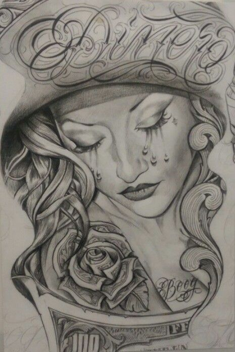Chicano and dessins on pinterest for Chicano tattoo art