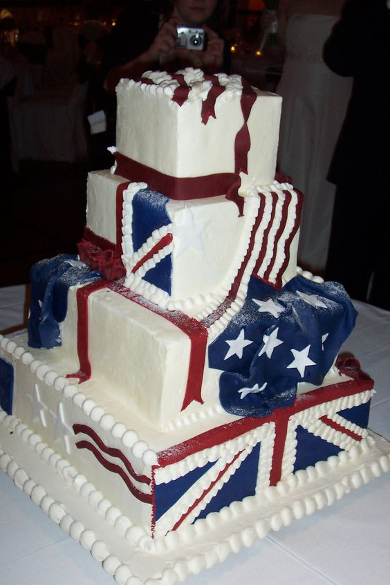 american flag wedding cake wedding cake 14 chicago marriott naperville 10742