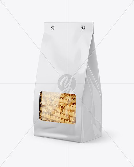 Download Paper Bag With Fusilli Pasta Mockup Half Side View In Bag Sack Mockups On Yellow Images Object Mockups Fusilli Pasta Paper Bag Psd Template Free