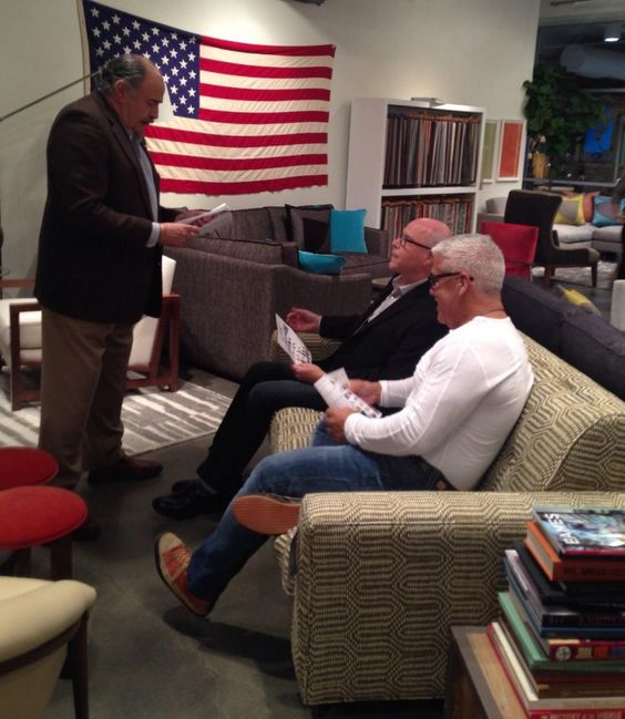 Spotted @decorumva buyers checking out made in the USA designs at @youngerfurnitur    #cdgmkt #hpmkt http://www.contemporarydesign.com
