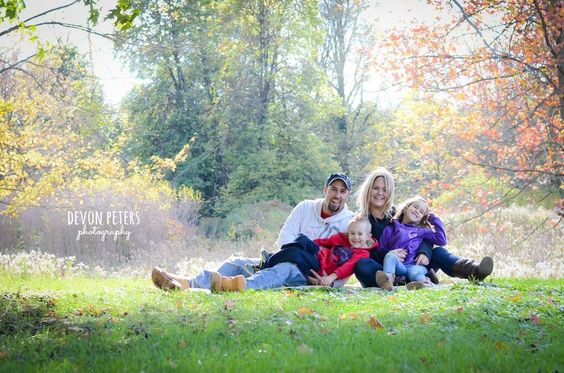 Family - Devon Peters Photography fall, autumn, family, portraits, outside, leaves