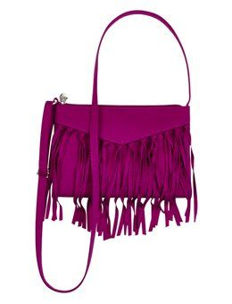 Fringe Knotted Jersey Crossbody Bag