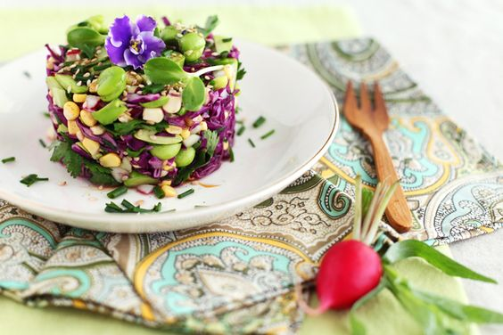 Fava Bean Timbale! Beautiful food photography via @G0lubka