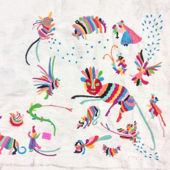 Knitting Embroidery Bordado : Puntos de bordado mexicano tenango buscar con google