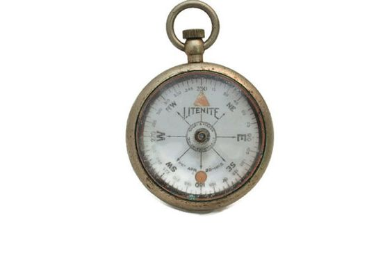 Antique LITENITE WWI Compass Short and Mason by PatinaAndCole, $65.99