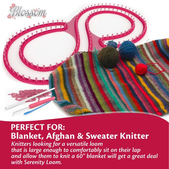 You Get The Loom, Extra Pegs, Yarn Guide and Hook All Included! Its great design means that left handed knitters can use it comfortably, in fact it is made so that any knitter can get around it and manoeuvre the hook with ease.