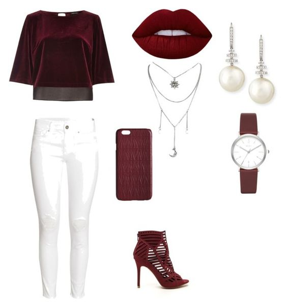 """""""Untitled #33"""" by valeriecolemann ❤ liked on Polyvore featuring River Island, H&M, Lime Crime, Belpearl, DKNY and Dagmar"""