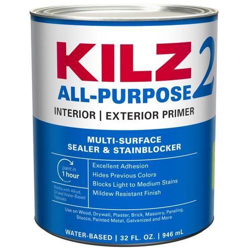 Kilz 2 Interior Exterior Multi Purpose Water Based Wall And Ceiling Primer Quart Lowes Com In 2020 Kilz Cover Stains Exterior Primer
