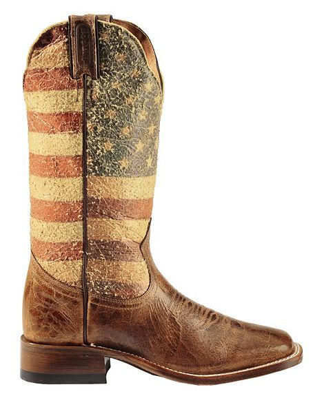 Boulet Bandiera USA Cowgirl Boots - Square Toe | Kick Up Your