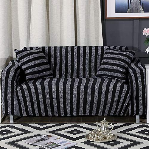 Oncefirst 1 Piece Knit Stretch Striped Sofa Slipcover For Armchair Loveseat Sofa Couch Leather Sofa Couch Sofa Covers Loveseat Slipcovers