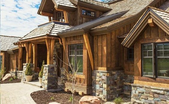 hardie board log cabin siding - Google Search                                                                                                                                                     More