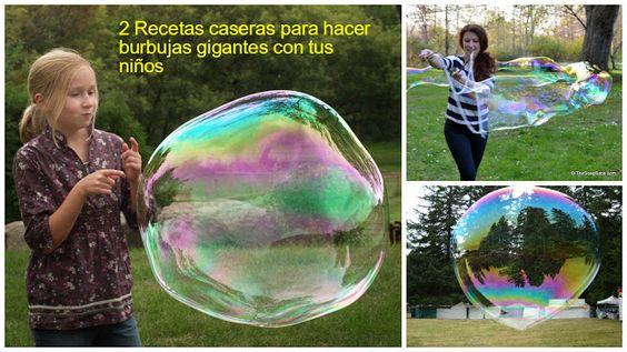 Haz burbujas gigantes con tus niños con estas 2 recetas caseras ~ lodijoella
