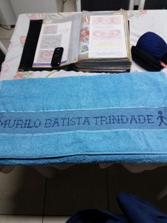 Toalha de banho azul