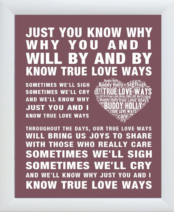 Words, Buddy Holly Songs And True Love On Pinterest