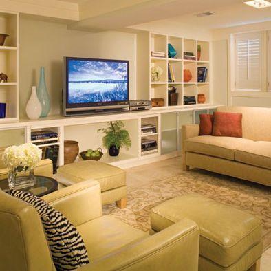 Unit murale pour le sous sol meuble tv pinterest for Meuble sous tele murale