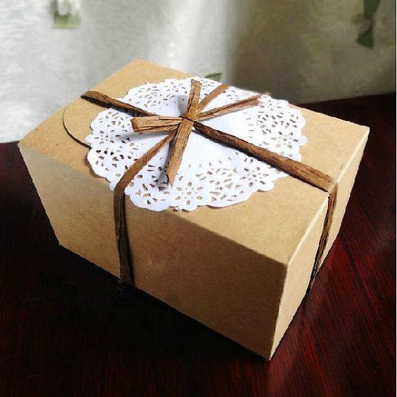 10 Stk Kraft Zettelkasten Feld Mond Kuchen, Kuchen Box, die West Point und etc. backt der Serie Verpackung Produkt Paket - für Ihre DIY Einr...