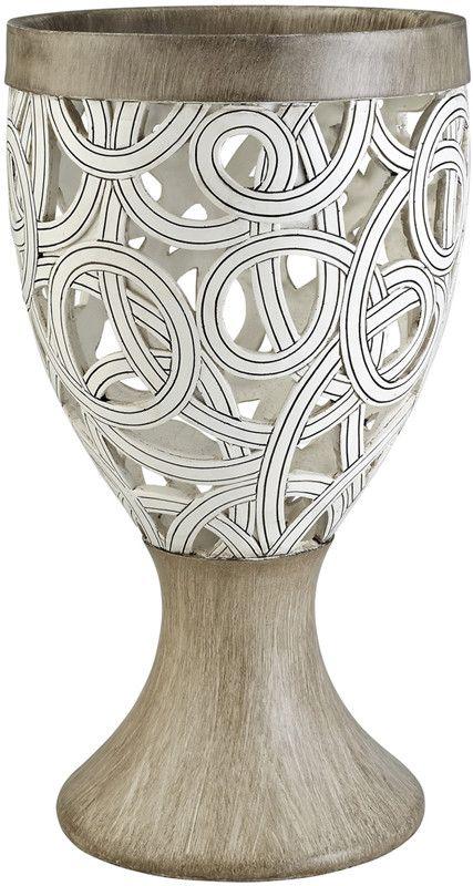 Ok Lighting OK-4241-V2 Carved Strings Decorative Vase